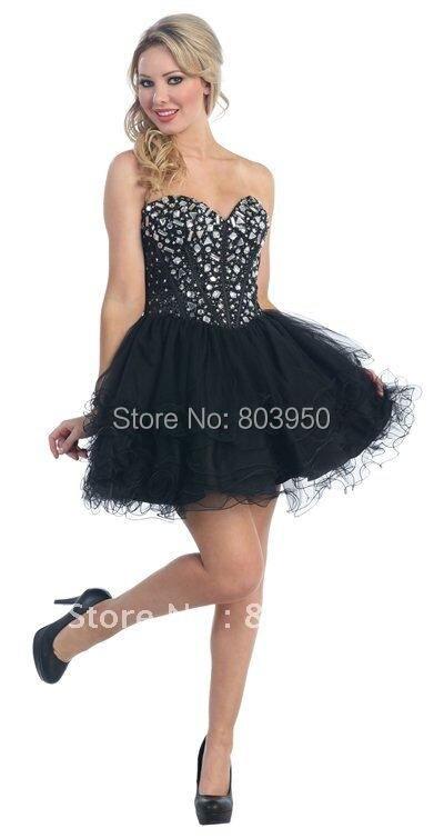 Aliexpress.com : Buy Black Prom Dresses Sweetheart Backless Croset ...