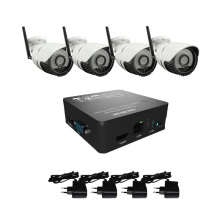 4ch cctv system 1080p wifi camera and 8ch mini nvr 4ch cctv kit support onvif ,p2p ,cloud ,motition detection freeshipping