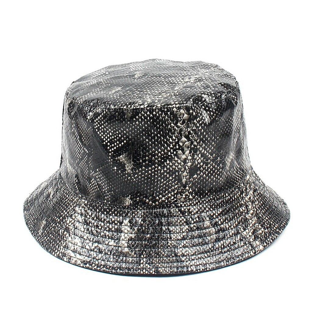 60a13a8d65 Summer Hat Women Mens Panama Bucket Hat Snake Print Design Sunshade ...
