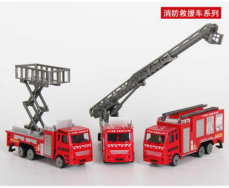 3 Pcs/Set Mini Paduan mobil rekayasa truk Pemadam Kebakaran Mobil hijau army traktor Truk Sampah Mainan Model Klasik Mainan Mini Hadiah Untuk Boy