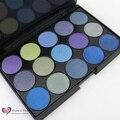 HOT 15 Shimmer Colores Brillantes de Maquillaje Mineral Preessed Powder sombra de Ojos Paleta Sombra de ojos Pigmento Set 26mm