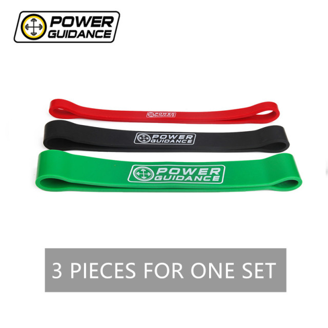"POWER GUIDANCE 3 Piece/ Set Mini 12"" Power bands Resistance Pull up Bands Latex Streching Band Loop For Powerlifting Training"