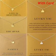 Hotselling Brand Crown, Whale, Bird, Elephant Gold Alloy Clavicle Chain Pendant Necklace New Jewelry For Women (Have Card)