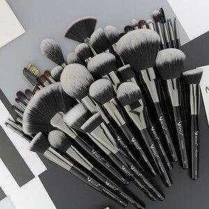 Image 2 - Набор кистей для макияжа BEILI Black, 40 профессиональных кистей для макияжа, Мягкая натуральная щетина, пудра, растушевка, основание веера для бровей, Кисть для макияжа
