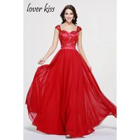 Cheap Vestido De Festa Red Beautiful Sweetheart Sleeveless Crystal Prom Gown Elegant Party Gowns 2017 Prom