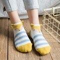 Cute Fox Sock Cartoons Vossen Colorul Socks Lot 3 Pairs Women Dafmessokken Meias Chaussette Femme Kawaii Striped Cotton Socks