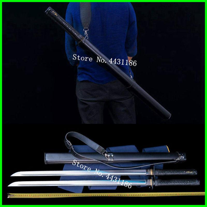 Battaglia Pronto Ninja Dritto Dao Spada Giapponese Samurai Katana Forte 1095 In Acciaio Al Carbonio Sharp Per Il Taglio Di Combattimento Doppia Lama Tecnologie Sofisticate
