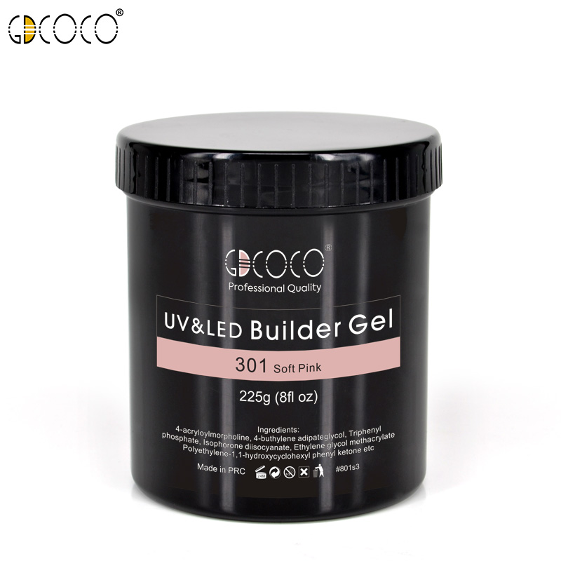 GDCOCO New Arrival 225g Camouflage Nude Color CANNI Builder Gel Soak Off UV LED Nail Manicure Extenstion Gel Thicker Nail Gel