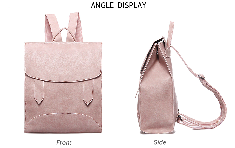 High Quality Women Backpack Leather Bags New Arrival 17 Backpacks For Teenage Girls Fashion Bag Woman Back Pack Bolsa Mochila 12
