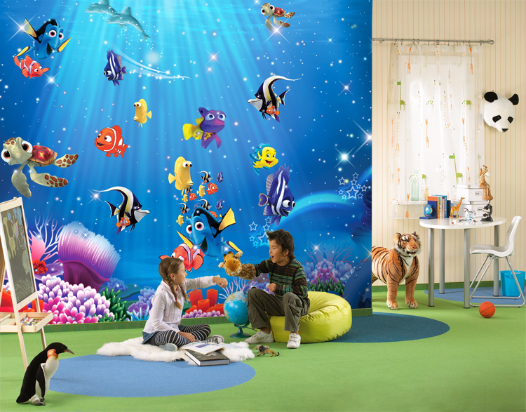 Fashion Abstract Mural Wallpaper Tv Background Wallpaper Nemo Cartoon Large Photo Embossed