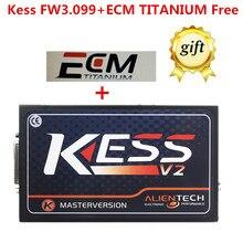 Envío Libre de DHL KESS V2 GW3.099 ECU Chip Tuning No tokens kess maestro versión limitada con ecm titanium v1.61 18475 conductor