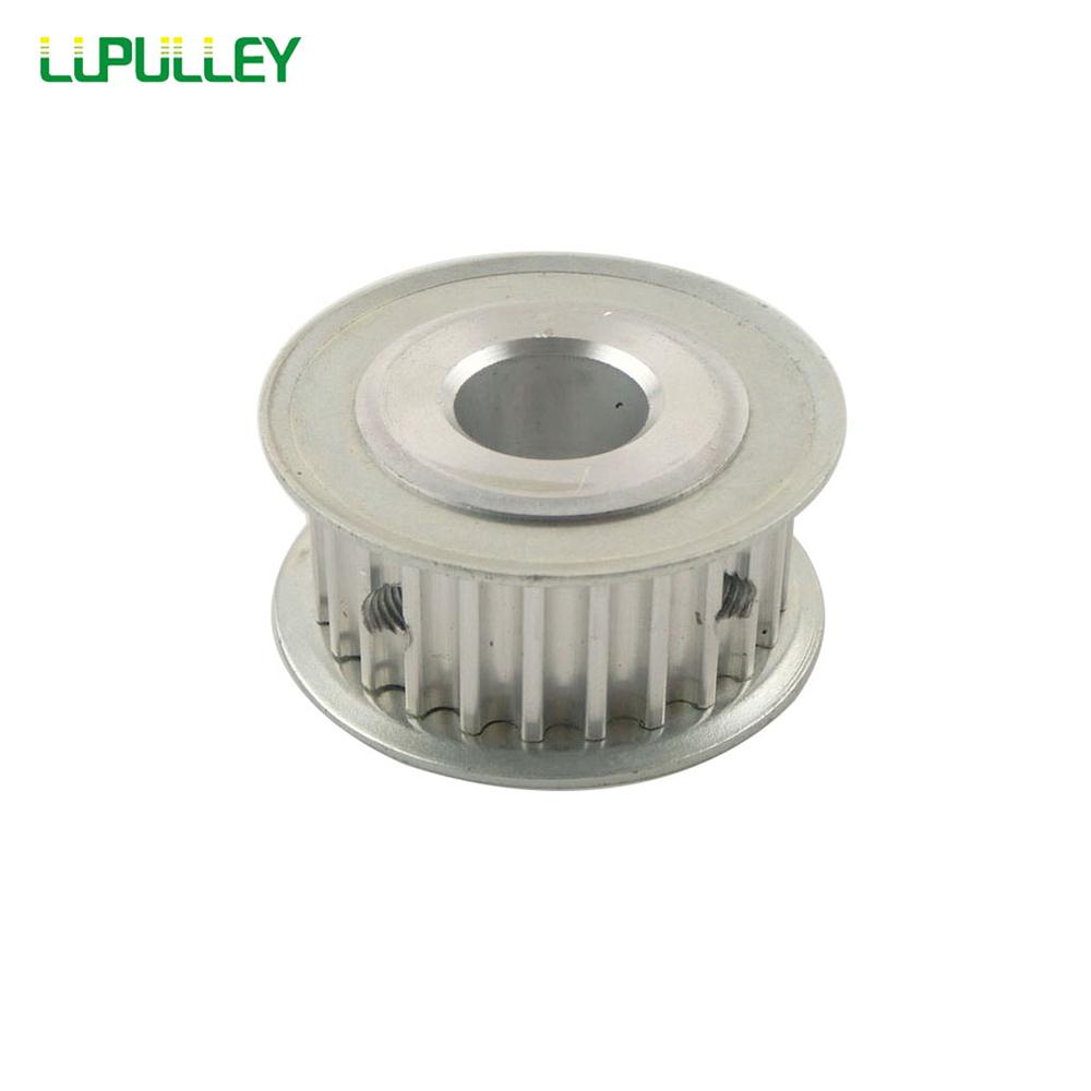 LUPULLEY 1 unid HTD 5 M 25 t polea 16mm ancho 5mm/6mm/ 6,35mm/8mm/10mm/12mm/12,7mm/14mm/15mm /16mm/17mm diámetro 5mm paso