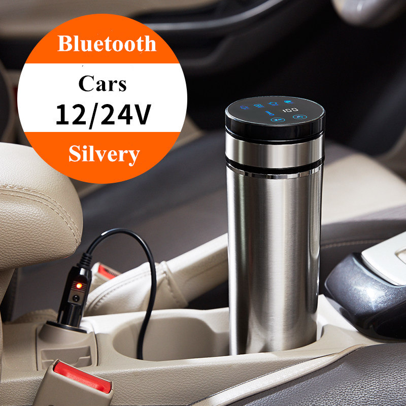 12V/24V Portable 350ml Car Auto Heating Cup Adjustable Temperature Car Boiling Mug Electric Kettle Boiling Vehicle Thermos