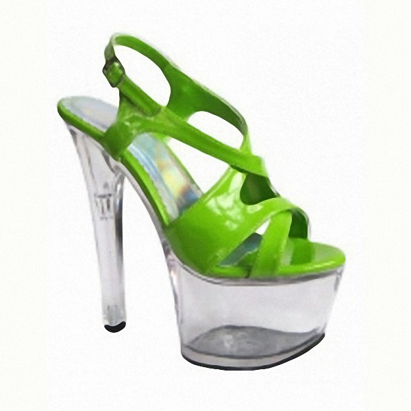 Roman candy color sponge show pictures of shoes bottom sexy temptation fish mouth appeal, 17 cm Dance Shoes the bride single shoes catwalk shows the performance of 15 cm high with roman style thick bottom appeal show shoes