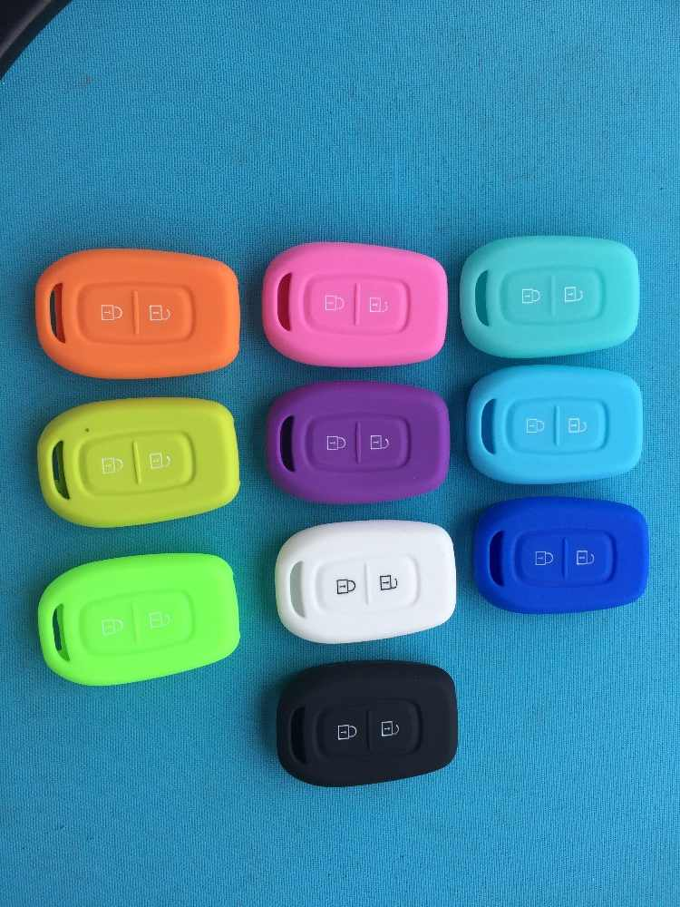 2 Buttons Silicone Key Case For Renault Scenic Master Megane Duster Logan Clio Captur Laguna Fluence Remote FOB Key Cover Shell