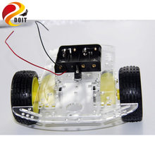 Original New 2WD Intelligent Car Robot Chassis with Speed Encoder Omni Universal Wheel DIY RC Toy TT Motor Remote Control(China)
