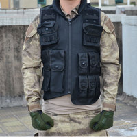 Tactical Vest Cool Mens Hunting Vest Outdoor Training Military Army Swat Vests Men Waistcoat Protective Magazine Pouch Black