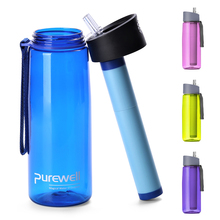 650ml Outdoor Water Filter Bottle Filtration Purifier for Camping Hiking Traveling