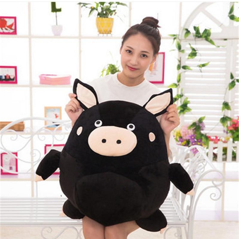 Fancytrader Cute Anime Pig Plush Toys Stuffed Animals Piggy Doll Black Brown 60cm 24inch tumama 20cm moana pua pig anime plush toys kids gift stuffed animals plush cute softy pig doll kawaii plush