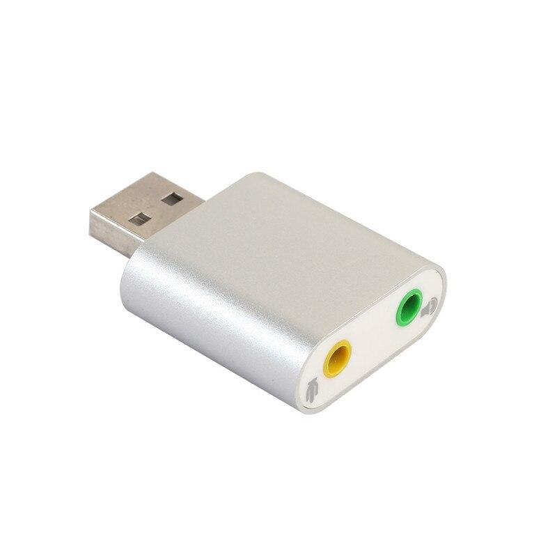 Аудио адаптер 3D звуковая карта USB 7.1 для 3.5 мм микрофонный разъем для наушников стерео гарнитура A8