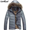 Nova Letskeep 2016 Mens Inverno parka de penas de pato para baixo casaco com capuz casacos de neve homens parka ultraleve quente para baixo jaqueta, MA180