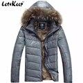 Nueva Letskeep 2016 Mens Invierno parka de pluma de pato abajo chaquetas con capucha escudo de esquí de nieve parka hombres ultraligero caliente abajo chaqueta, MA180