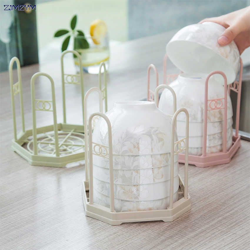 1pc Durable Healthy Plastic Dish Plate Fold Rack Holder Stand Dry Shelf Storage Canteen Kitchen Supplies Good Helper