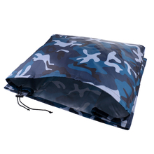 Waterproof Vented Outboard Motor Boat Cover Ocean Camo for 70-150 HP Engines Waterproof Oxford fabric mildew & UV resistance