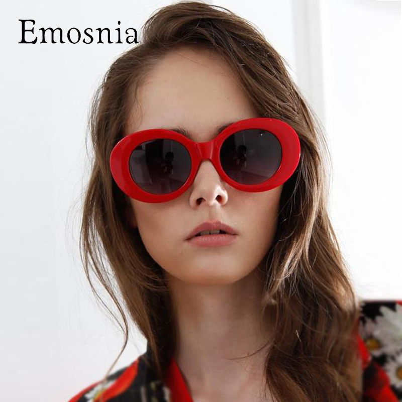 Emosnia Steampunk Round Sunglass Ladies Red White Small Lens Vintage Sunglasses Women Men High Quality Brand Designer Oculos