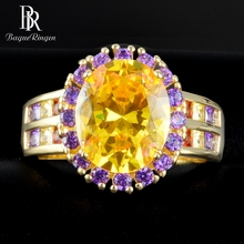 Bague Ringen 925 Sterling Silver Gemstone Rings For Women Vintage Real Natural Citrine Ring Wedding Fine Jewelry Size 6 7 8 9 10 недорого