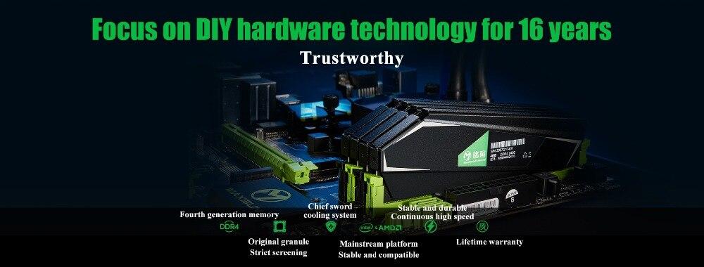 MAXSUN ram ddr4 8GB/16GB Desktop RAMs 4gb Memory 2400MHz memory voltage 1.2V Lifetime Warranty 288pin Flash Single effective RAM 28