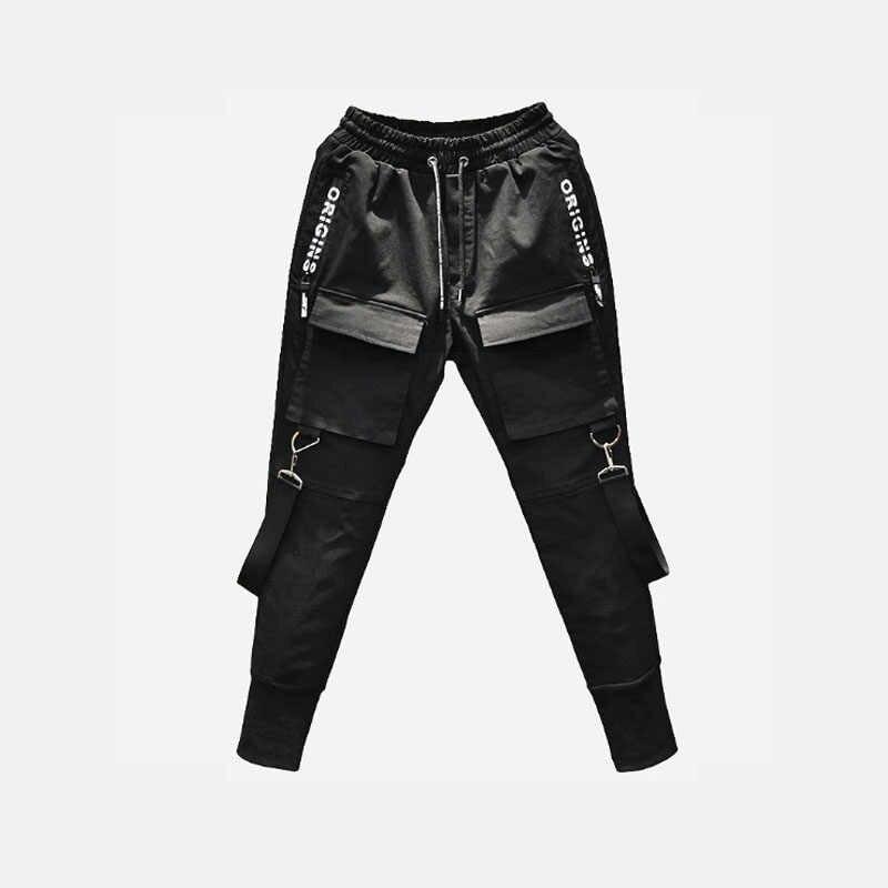 49Hot боковые карманы мужские зауженные брюки хип-хоп лоскутные брюки карго рваные спортивные брюки джоггеры брюки мужские модные длинные брюки