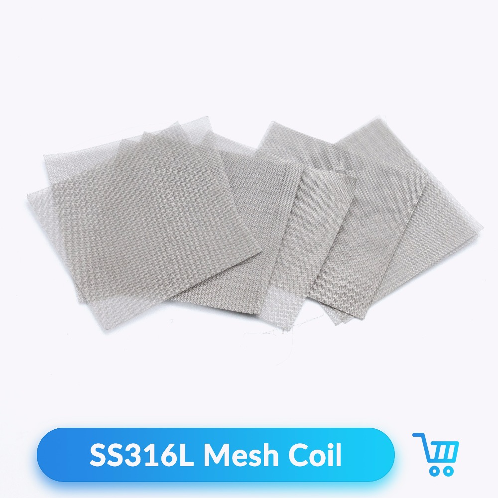 Quartz Banger 10pcs/Bag SS 316L Mesh Coil Stainless Steel Coil 50*50mm For RDA RTA Atomizer Vape Tank E Cigarettes Accessories