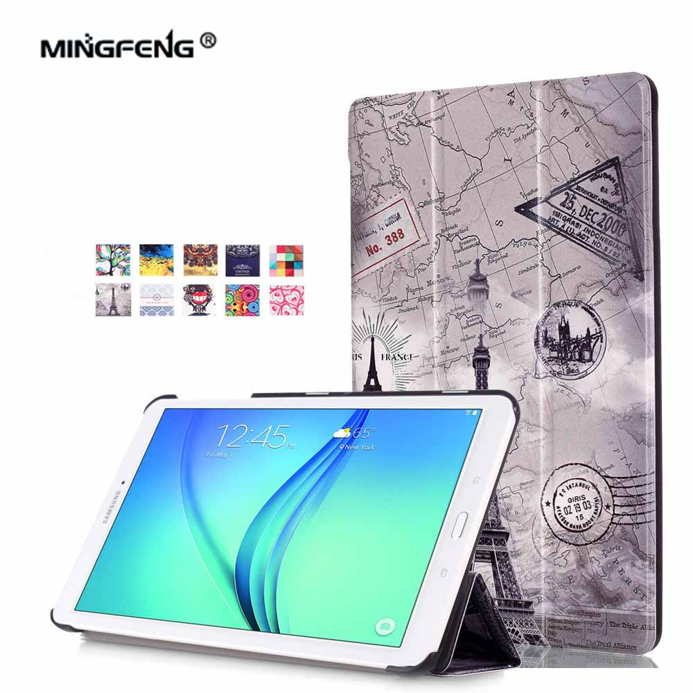For Samsung Galaxy Tab E 9.6 Case PU Leather Cover Case for Samsung Tab E 9.6 SM-T560 T561 T565 9.6inch Tablet Case+Stylus Pen pu detachable wireless bluetooth keyboard protective case cover for samsung galaxy tab e 9 6 tablet sm t560 t561 t565 funda