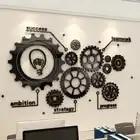 Dispositivo de engranaje decorativo de oficina de Fondo de pared 3d pintura autoadhesiva pegatinas de pared inspiradoras Pared de cultura empresarial