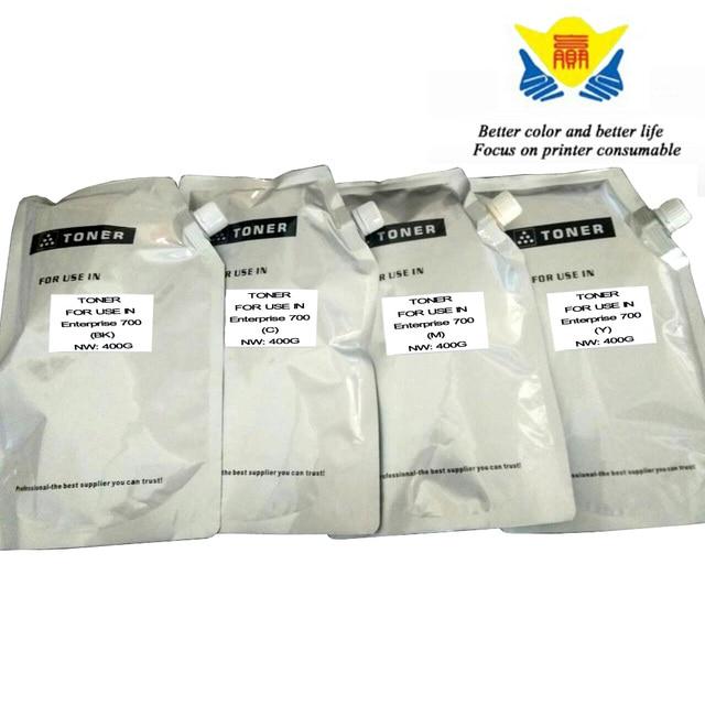 JIANYINGCHEN Compatible color refill Toner Powder for HP color LaserJet Enterprise 700 MFP M775f (4bags/lot) 400g per bag