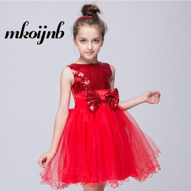 9ead34ff7 2018 Children Girls Party Dresses Princess Sequin Girl Kid Dress Bow ...