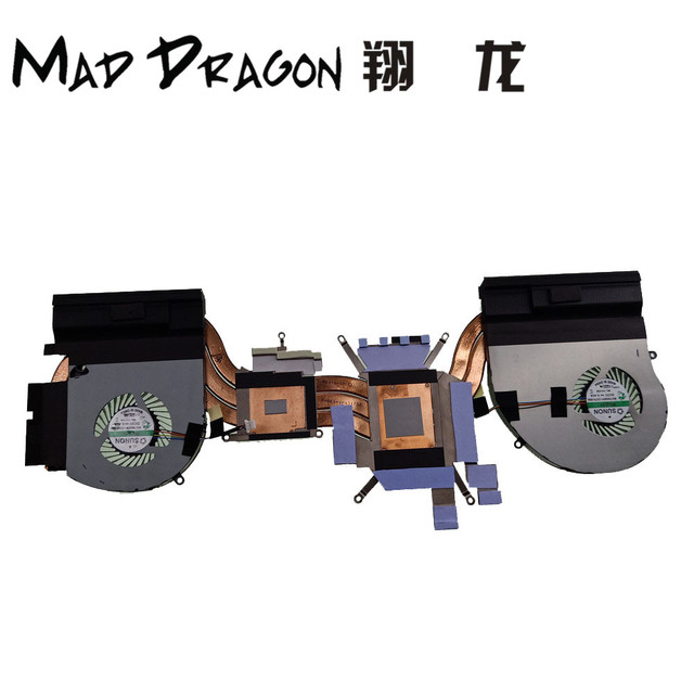 US $50 0 |MAD DRAGON Brand Laptop new CPU/Graphics Cooling Heatsink Fan  Assembly For Dell Alienware 17 R4 GTX 1080M 1070 1060 0FRPY8 FRPY8-in  Laptop