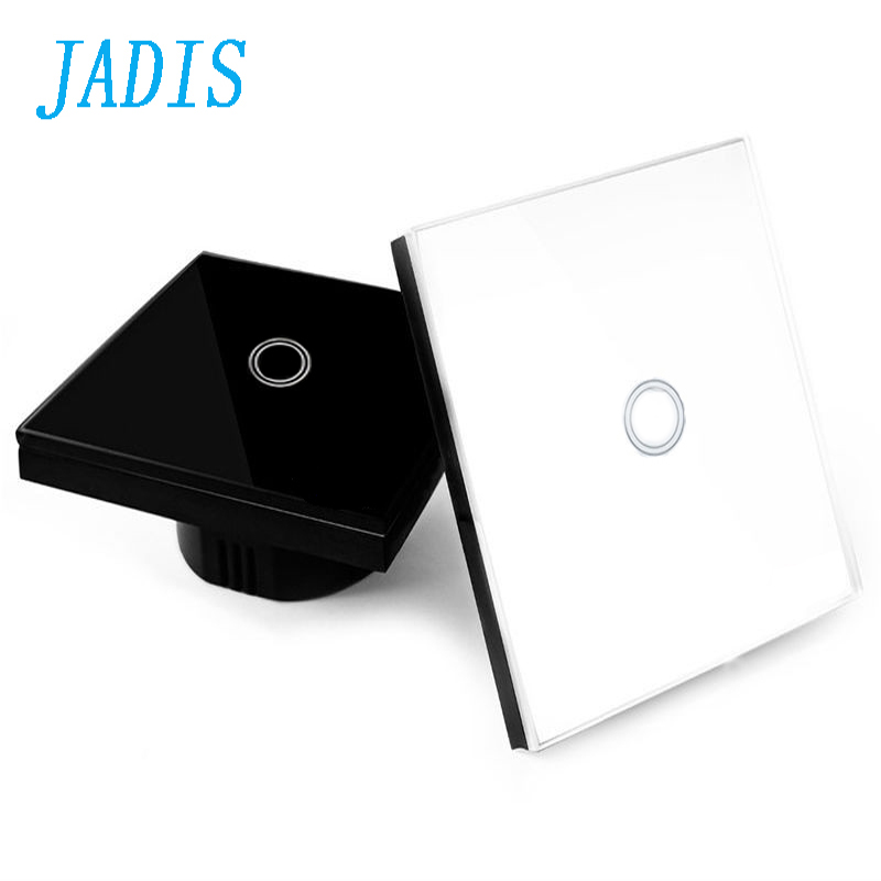 EU/UK Standard Touch Switch 1gang 1 Way,Wall Light Touch Screen Switch,Crystal Glass Switch Panel smart home us au wall touch switch white crystal glass panel 1 gang 1 way power light wall touch switch used for led waterproof