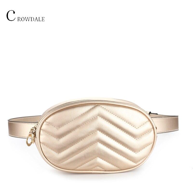 Fashion Ladies Waist Bag Ladies Round Luxury Brand Belt Leather Chest Bag New Fashion High Quality Pockets Belt Chest Package