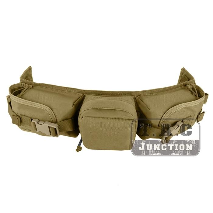 EmersonGear High Speed Sniper Waist Belt Pack Storage Bag Emerson Magazine Ammo Pouch - Khaki emerson gear sniper waist pack genuine multicam 500d military tactical waist pack free shipping sku12050410