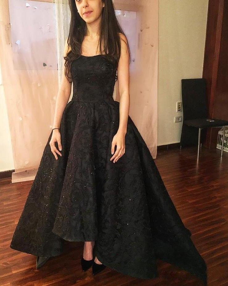 vestidos de fiesta Stunning Black   Prom     Dresses   Long Scoop Neck Elegant Women Formal Party Gown 2019