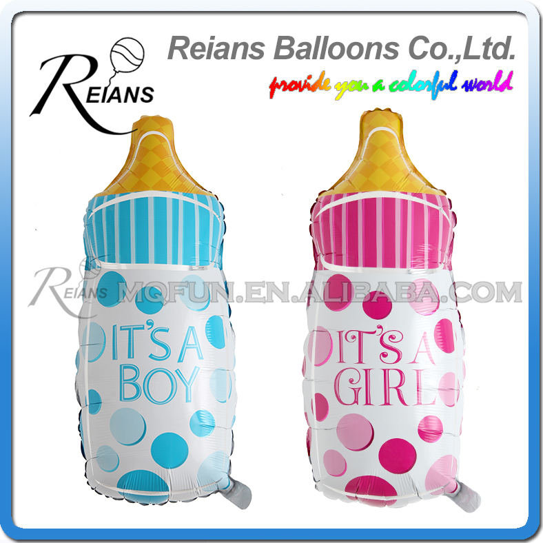 REIANS 82cm its a boy & girl baby feeding bottles foil balloons kids 1st birthday gifts party decoration balloon supplies