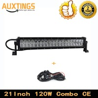 FREE SHIPPING Double rows 21'' inch 120W combo 4X4 trucks offroad driving lights led waterproof work light 12v led light bar
