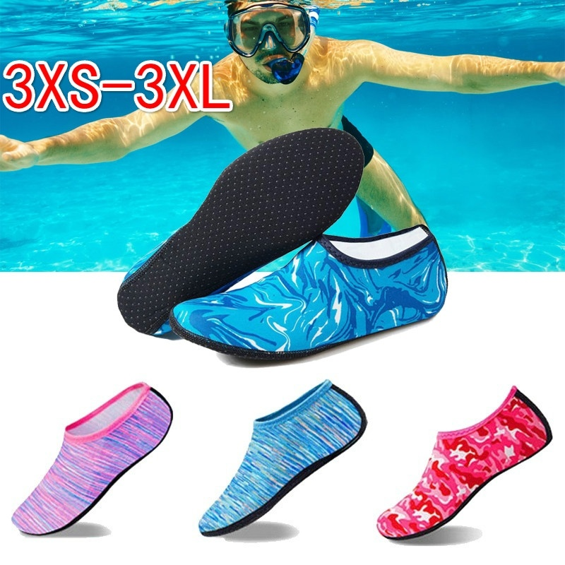 Swimming Water Aqua Shoes Men Women Beach Shoes Unisex Aqua Flats Soft Walking Diving Shoes Non-slip Socks Sneakers Sea Slippers