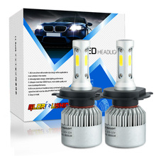 One set Car Lamp H4 LED Car Headlight Bulb H4-3 9003 HB2 Hi-Lo Beam 72W 8000LM white 6500K Auto Headlamp Fog Light H4 xenon