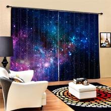 Роскошные затемненные 3D занавески на окна для гостиной, офиса, спальни, занавески Cortinas Rideaux, Индивидуальный размер, наволочка galaxy