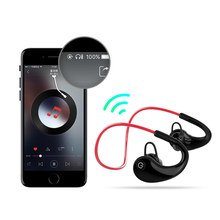цена на Waterproof Bluetooth earphone Noise Cancelling HiFi Stereo Wireless headphones Sports Headset Earbuds for Phone
