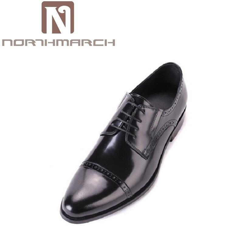 Chaussures D'affaires brun Marque Gentleman Luxe Noir Hommes Northmarch Italien Oxford marron Noir Classique Cuir En De qtzx1wHx