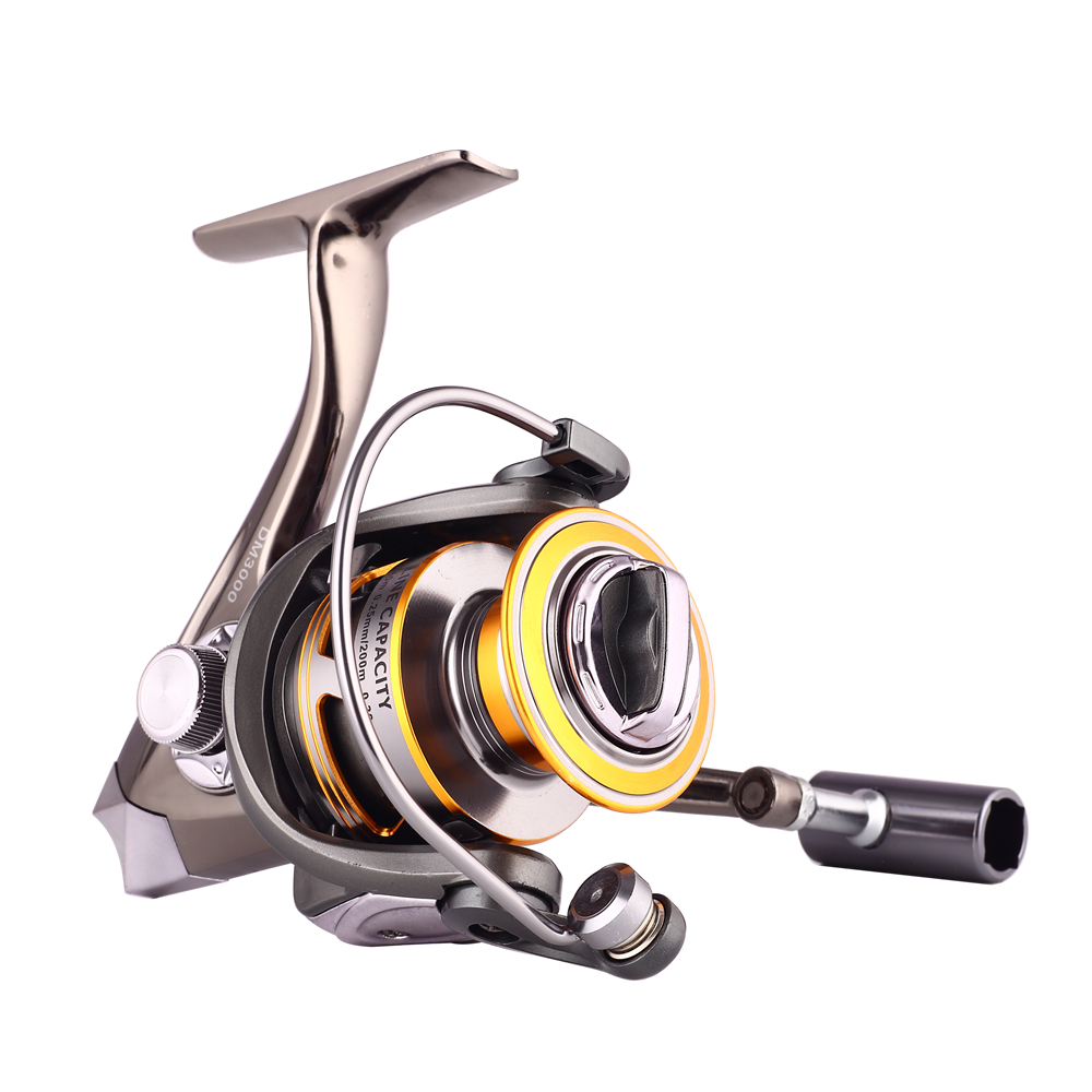 Full Metal Fishing Reel 12+1 Ball Bearings All Metal Sea Fishing Saltwater Fishing Spinning Fishing Reel Pesca rover drum saltwater fishing reel pesca 6 2 1 9 1bb baitcasting saltwater sea fishing reels bait casting surfcasting drum reel
